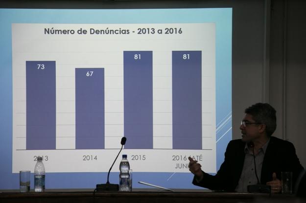 Audiência promovida pela Defensoria Pública do Estado, no Plenarinho da Assembleia Legislativa, apresentou números de pesquisa que investigou denúncias de violência policial no período entre 2013 e 2016. (Foto: Guilherme Santos/Sul21) Foto: Guilherme Santos/Sul21